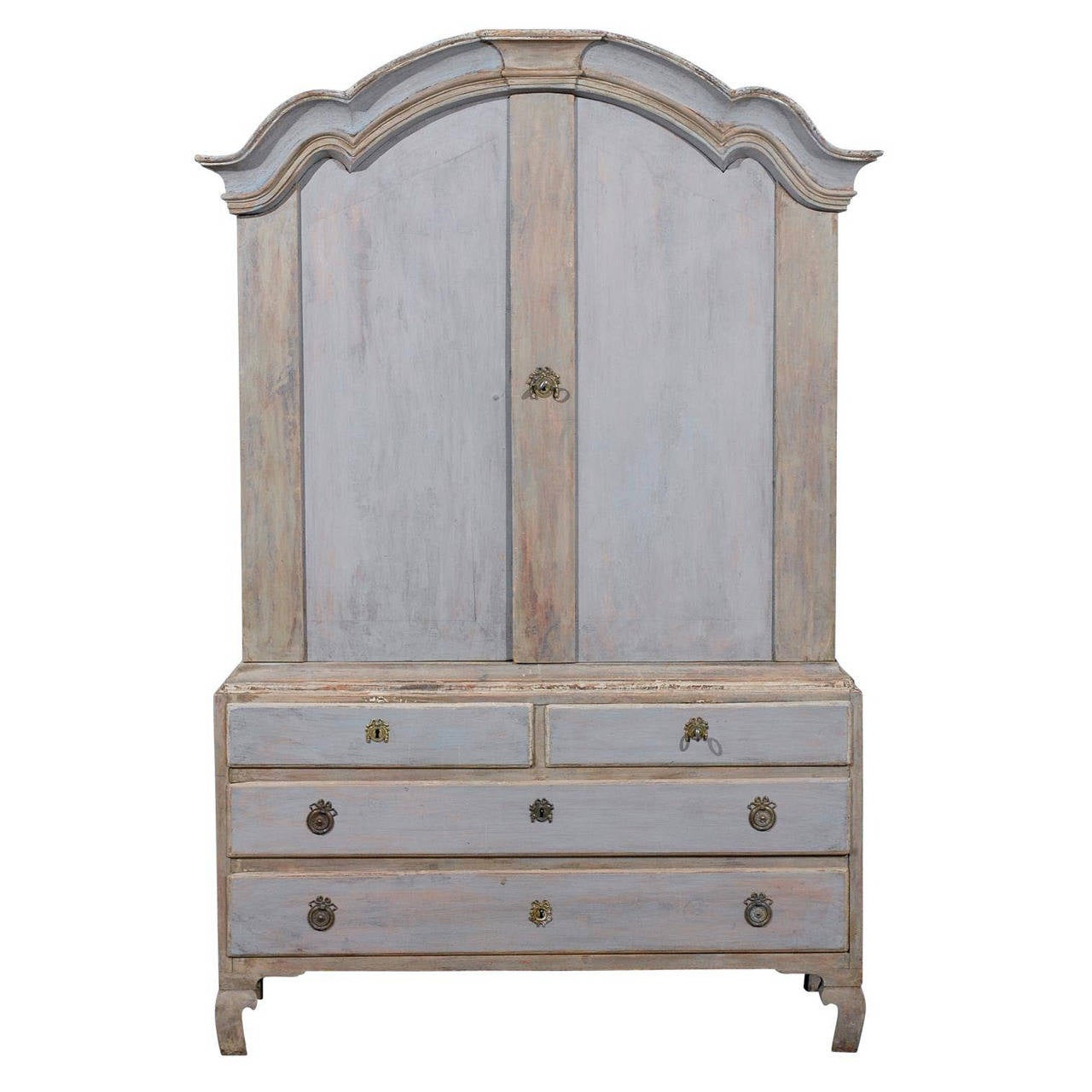 Swedish 18th Century Period Rococo Linen Press