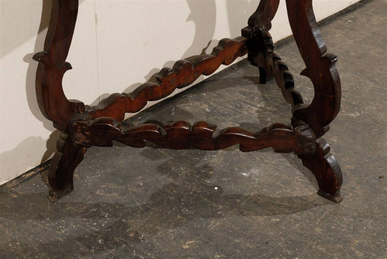 Exquisite Italian 18th Century Demilune Table For Sale 2