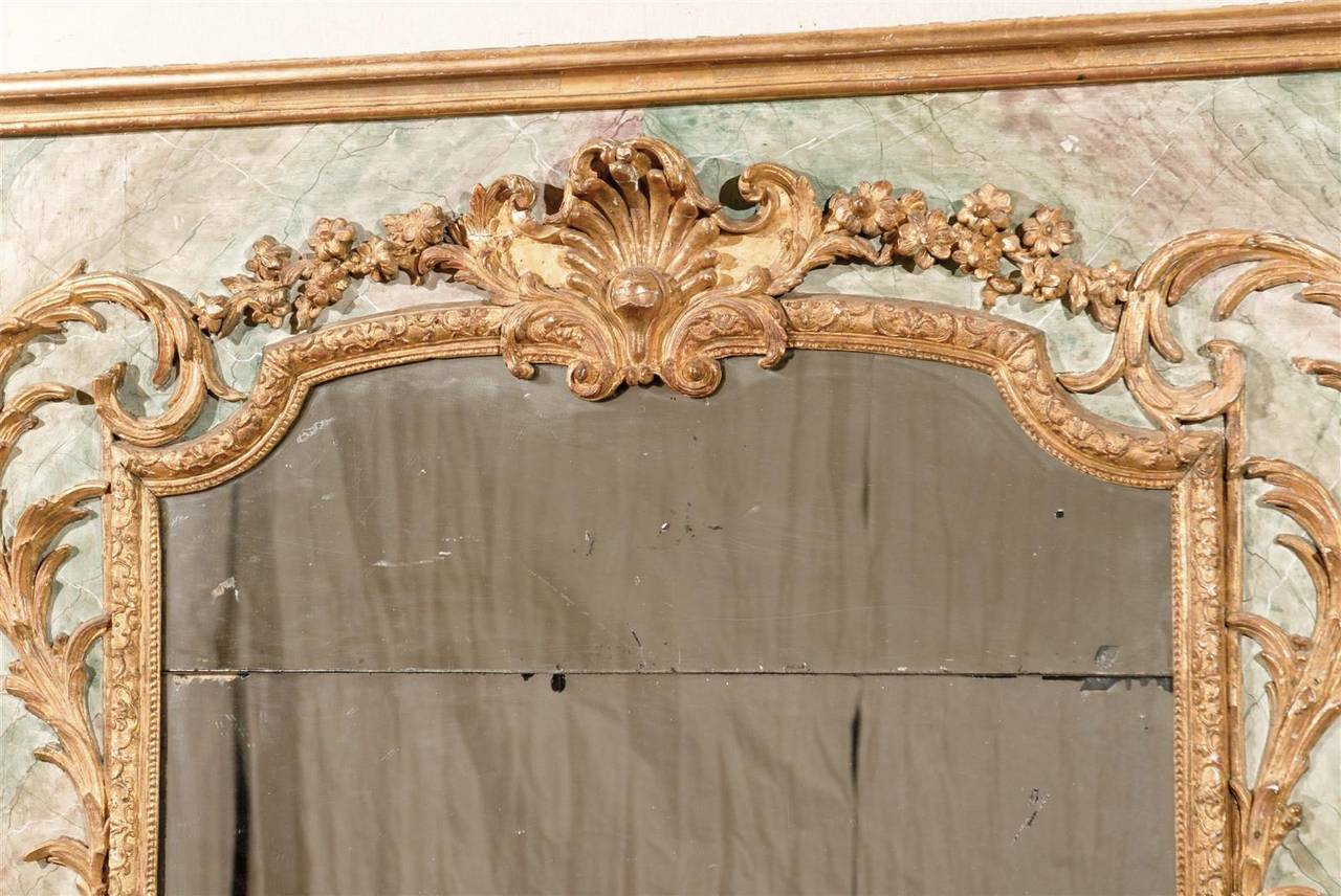 Wood Exquisite Italian Late 18th Century Mirror For Sale