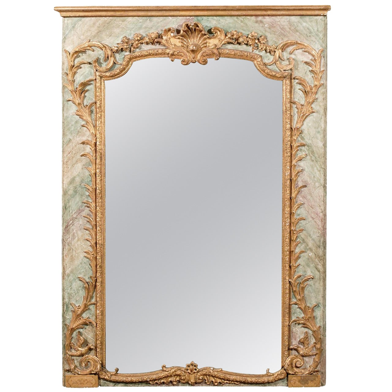 An Exquisite Italian Late 18th Century Rocaille Style Mirror, Beautifully Adorn