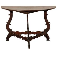 Exquisite Italian 18th Century Demilune Table