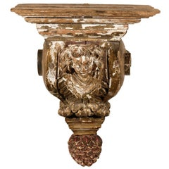 18th Century Italian Carved Wood Bracket