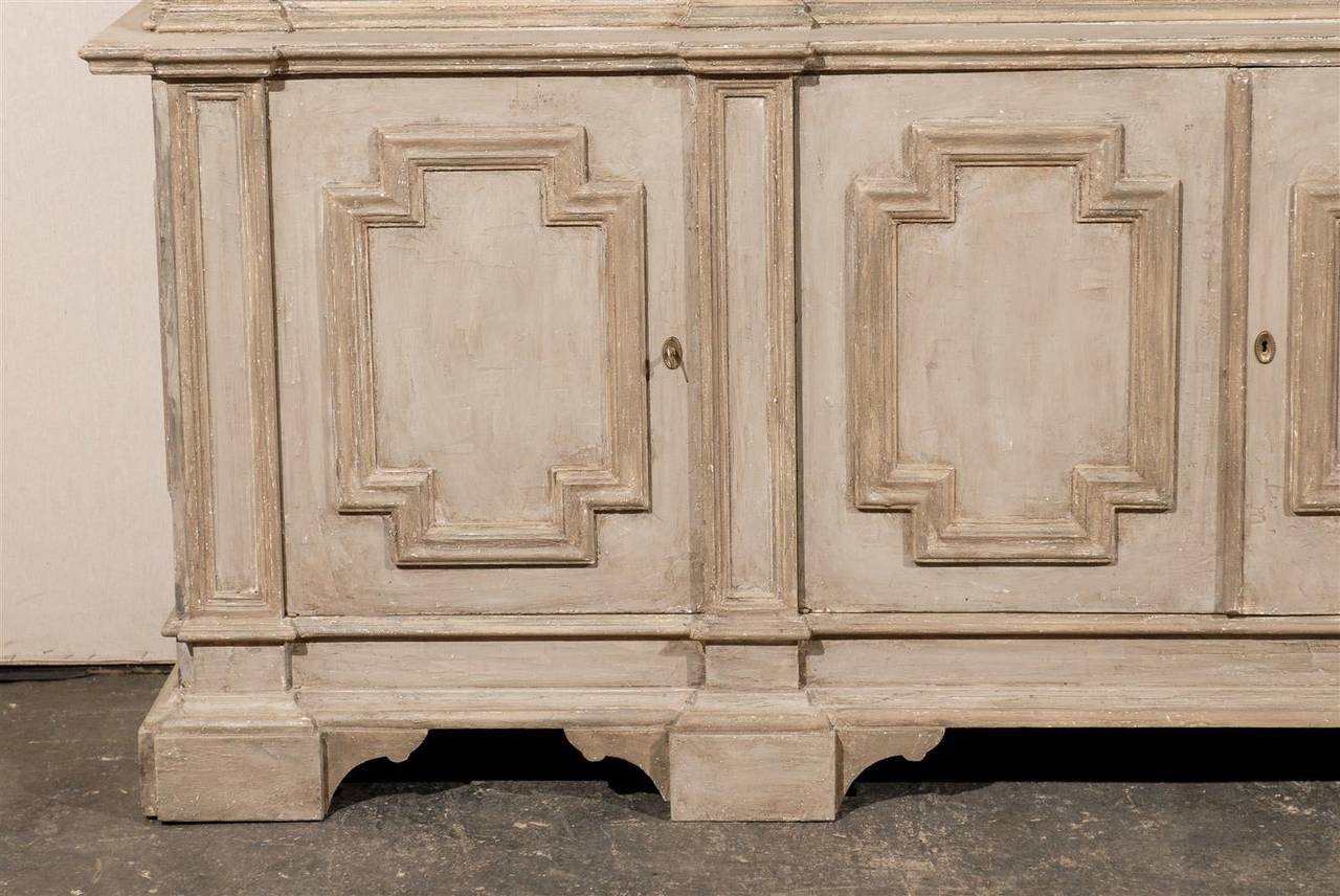 Italian Mid 20th Century Painted Wood Cabinet For Sale At 1stdibs. Full resolution  pic, nominally Width 1280 Height 856 pixels, pic with #81644A.