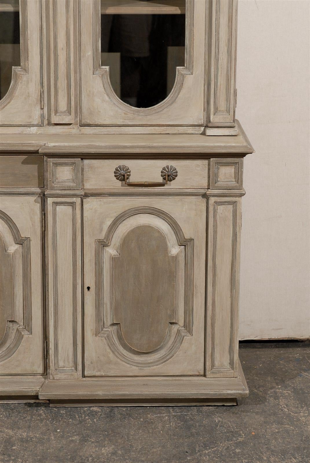 French Early 20th Century Painted Wood Breakfront Cabinet At 1stdibs. Full resolution  pic, nominally Width 1071 Height 1600 pixels, pic with #2D251E.