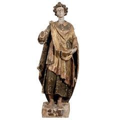18th Century Italian Santos Statue