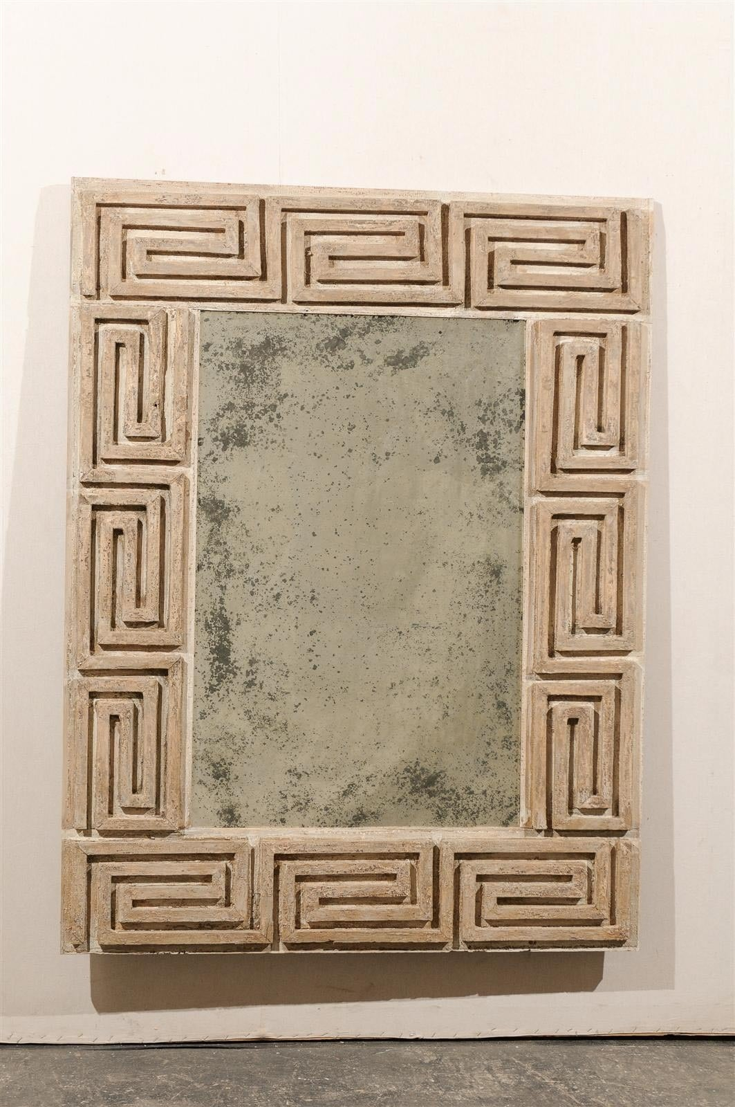 Greek key wooden mirror with antiqued glass for sale at 1stdibs a greek key american wooden mirror made from an early 20th century molding and antiqued glass jeuxipadfo Gallery