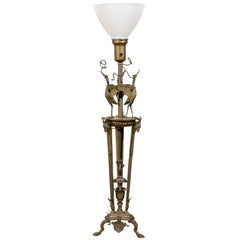 Italian Neoclassical Style Table Lamps with Bronze Base