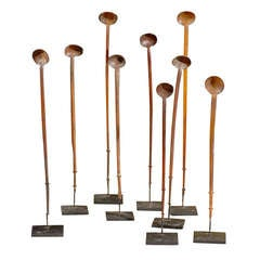 Assortment of Ethiopian Zebu Horn Coffee Spoons