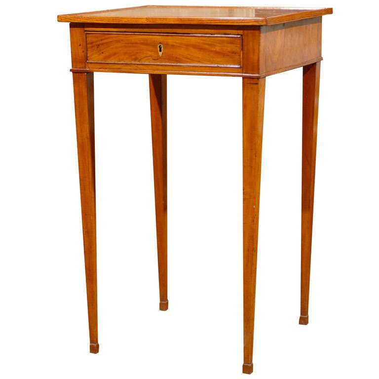 Swedish th century side table with tapered legs at stdibs