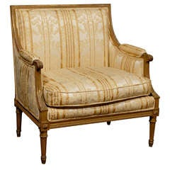 Late 19th Century French Louis XVI Style Marquise Chair