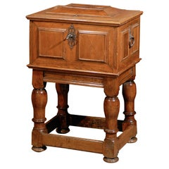 Swedish Period Baroque Early 18th Century Box with Original Hardware on Stand