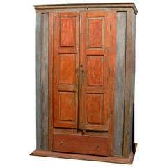 19th Century Brazilian Cabinet with Original Paint