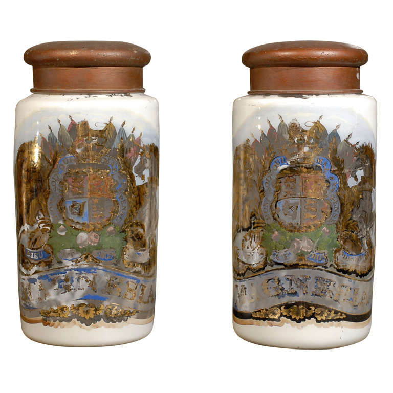 A Pair Of Extra Large Apothecary Jars For