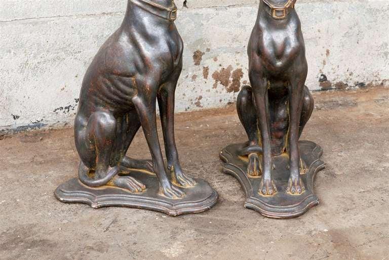 Pair of Italian Greyhound Dogs Sculptures 6