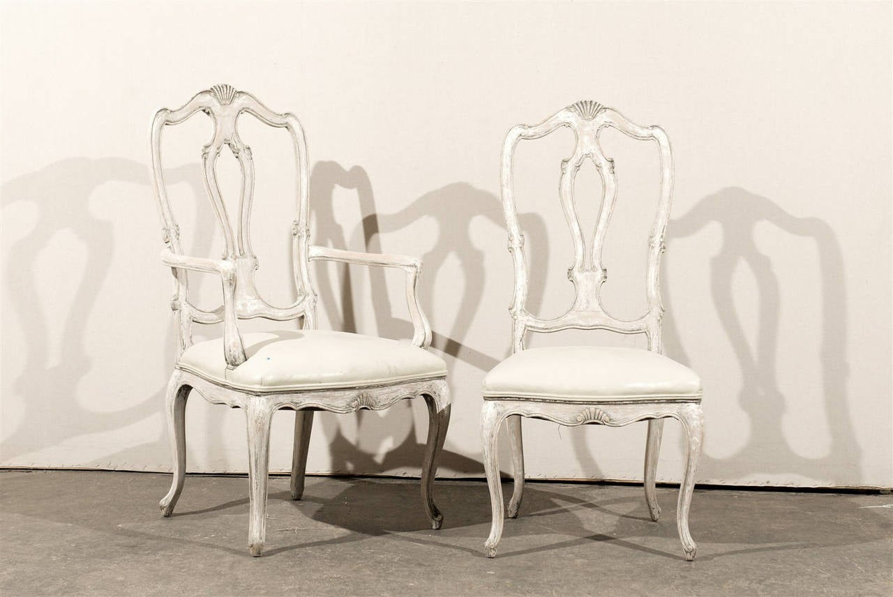 Leighton Dining Room Set Set Of 12 Italian Style Painted Wood Dining Chairs With
