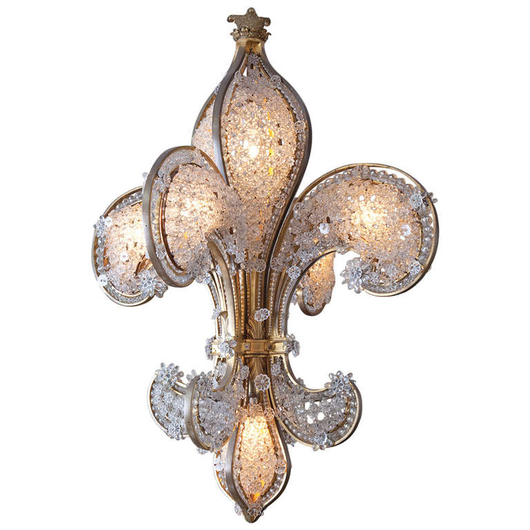 magnificent french fleur de lis chandelier at 1stdibs. Black Bedroom Furniture Sets. Home Design Ideas