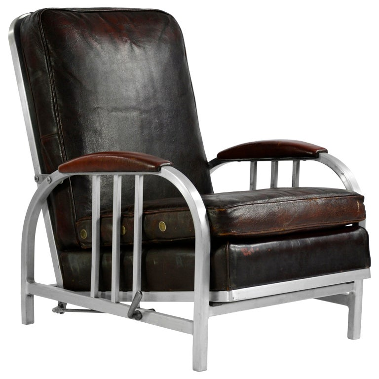 Art deco reclining lounge chair by goodform at 1stdibs - Deco lounge eetkamer modern ...