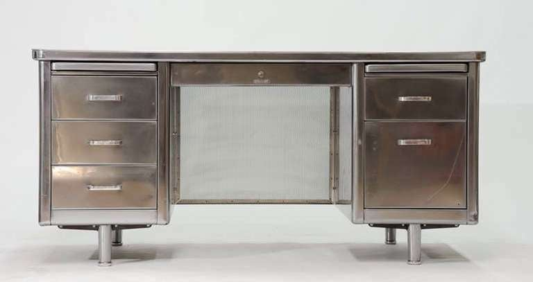 Classic Steelcase Tanker Desk For Sale At 1stdibs