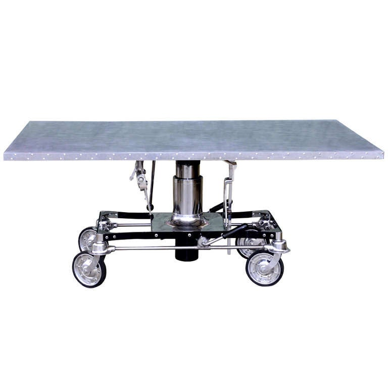 Industrial Hydraulic Table At 1stdibs