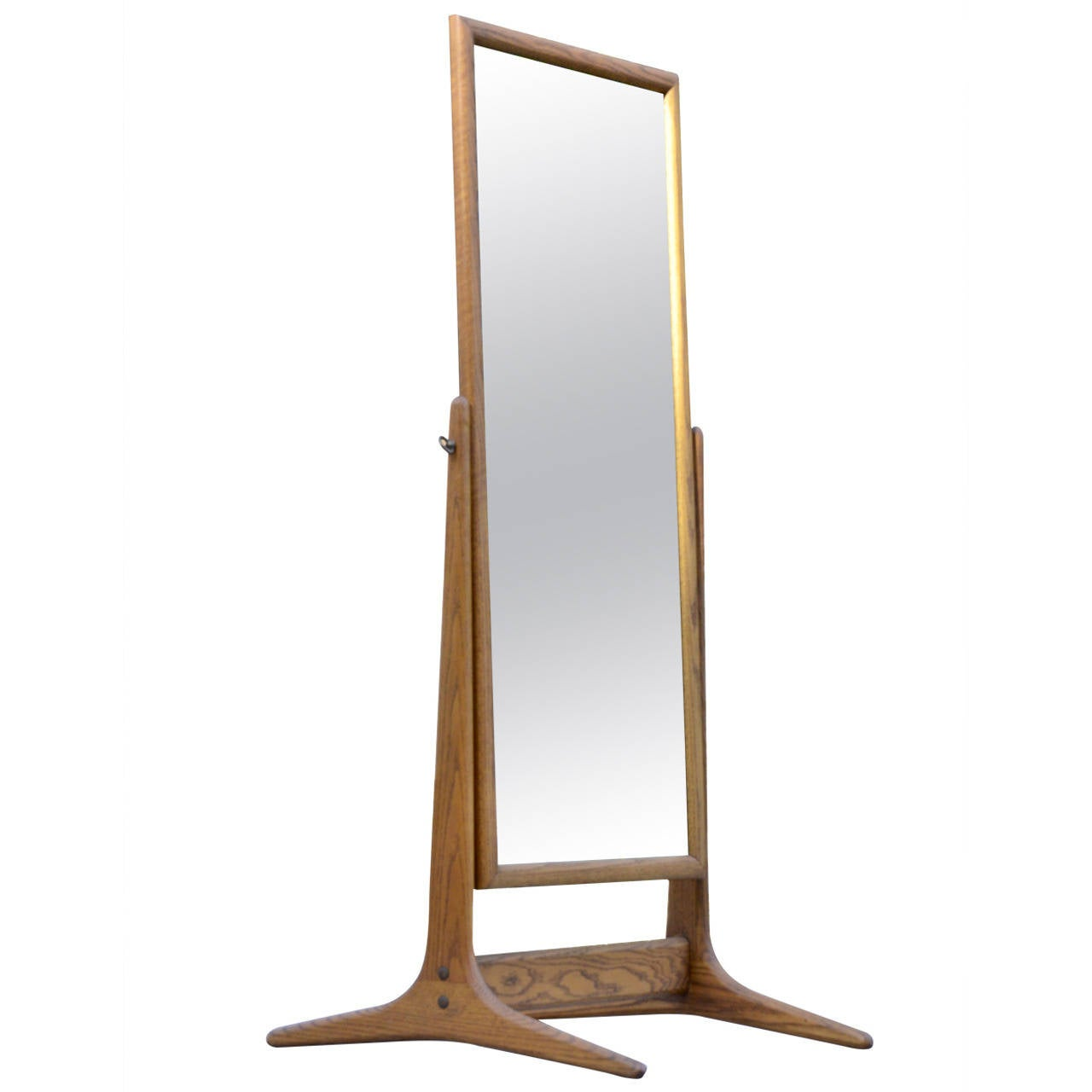 Mid century modern cheval mirror at 1stdibs for Cheval mirror