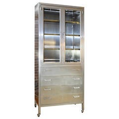 Classic Stainless Steel Lockdown Cabinet