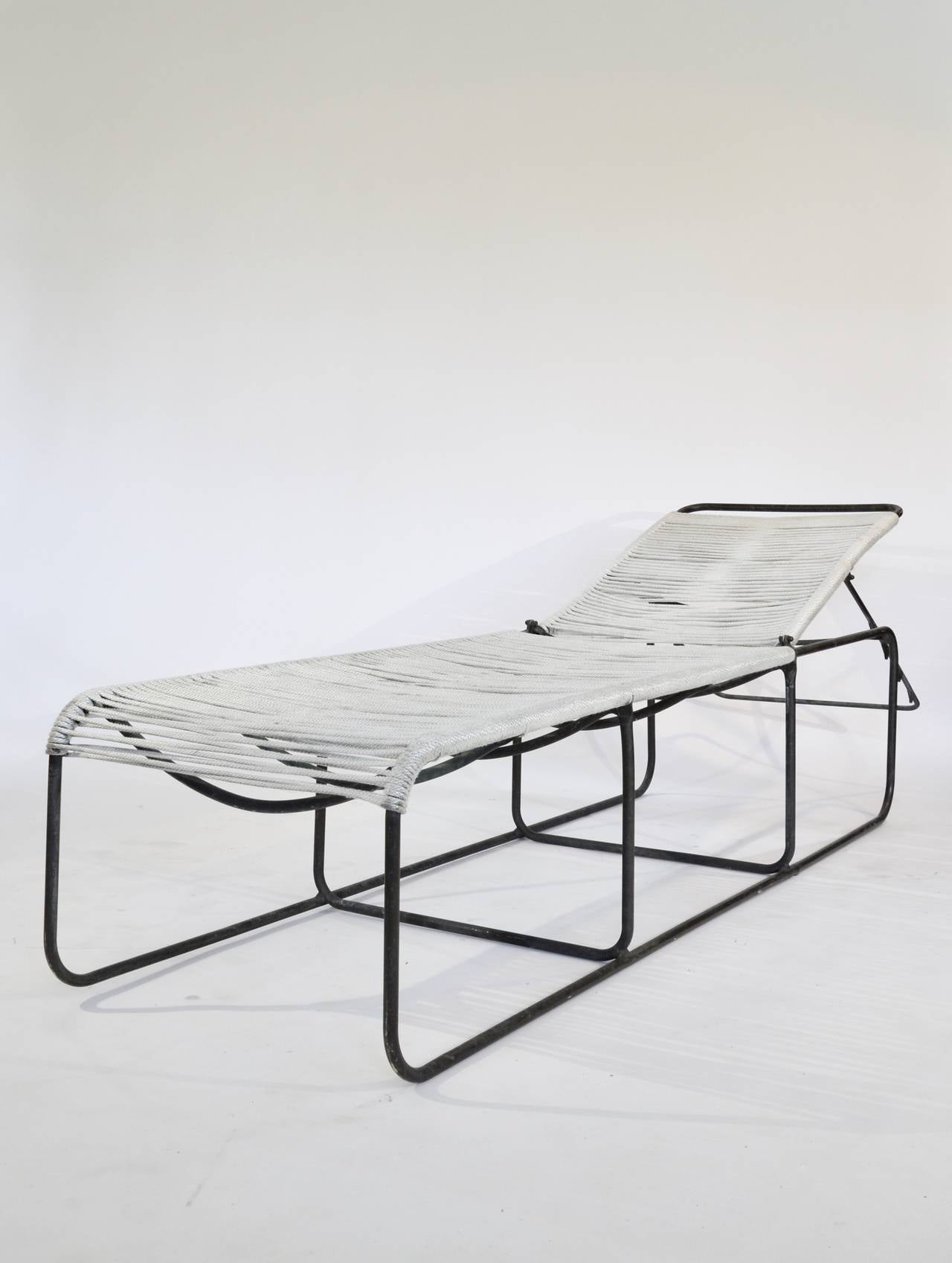Bronze and rope chaise lounges by kipp stewart at 1stdibs for Bronze chaise lounge