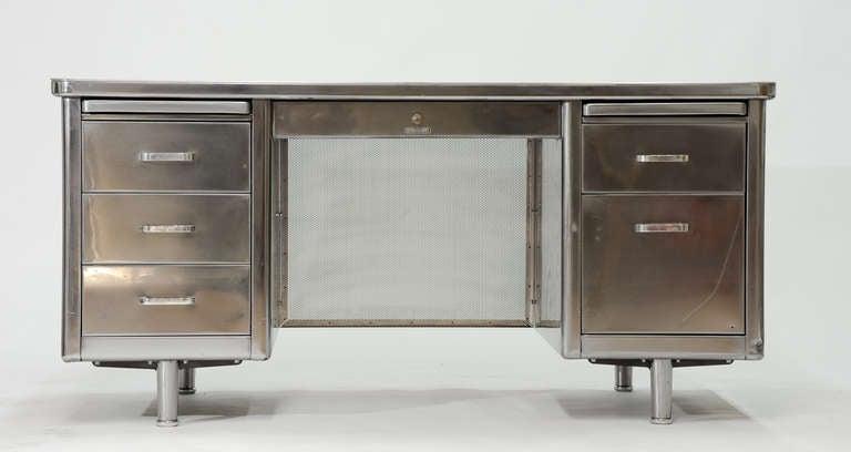 Vintage Steelcase Double Bank Tanker Desk image 3