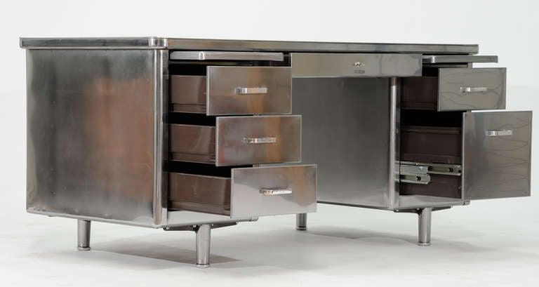 Vintage Steelcase Double Bank Tanker Desk image 4