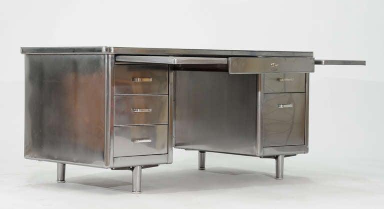 Vintage Steelcase Double Bank Tanker Desk image 5