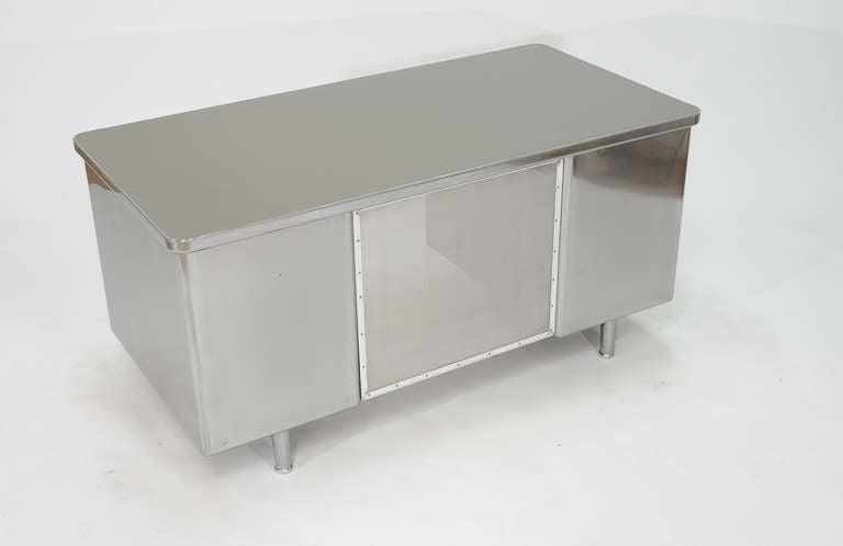 Vintage Steelcase Double Bank Tanker Desk image 7