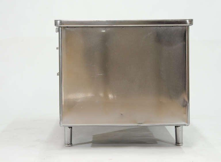 Vintage Steelcase Double Bank Tanker Desk image 8