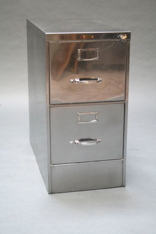 Classic Two Drawer File Cabinet By Steelcase For Sale At