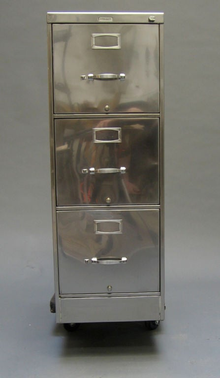 Steelcase Three Drawer File Cabinet At 1stdibs