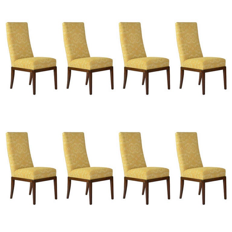Beautifully Tailored Baker Style High Back Dining Chairs