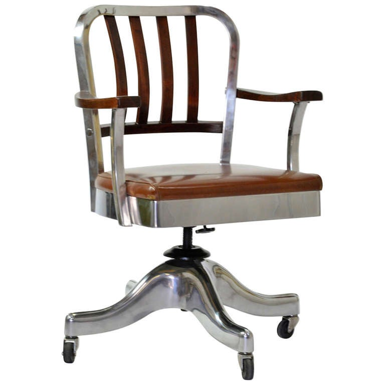 Shaw Walker Desk Chair At 1stdibs