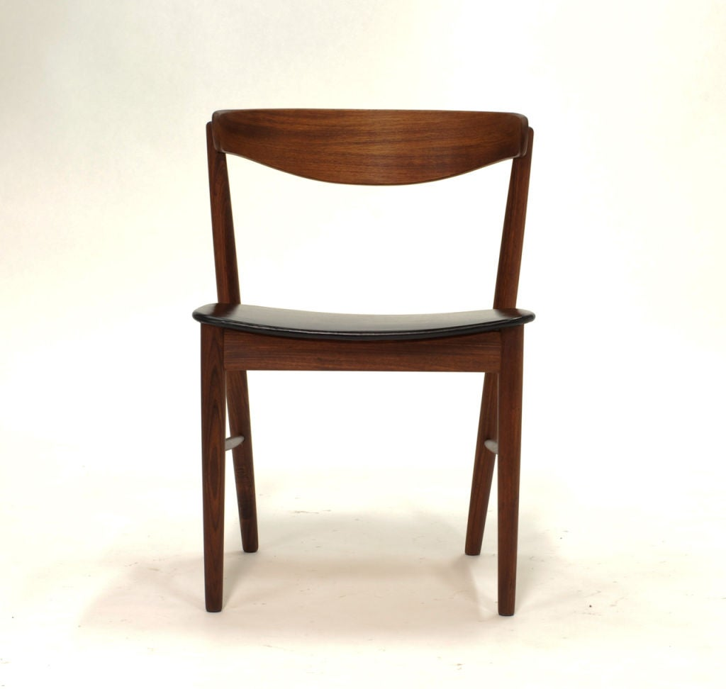 set of 4 danish modern dining chairs at 1stdibs