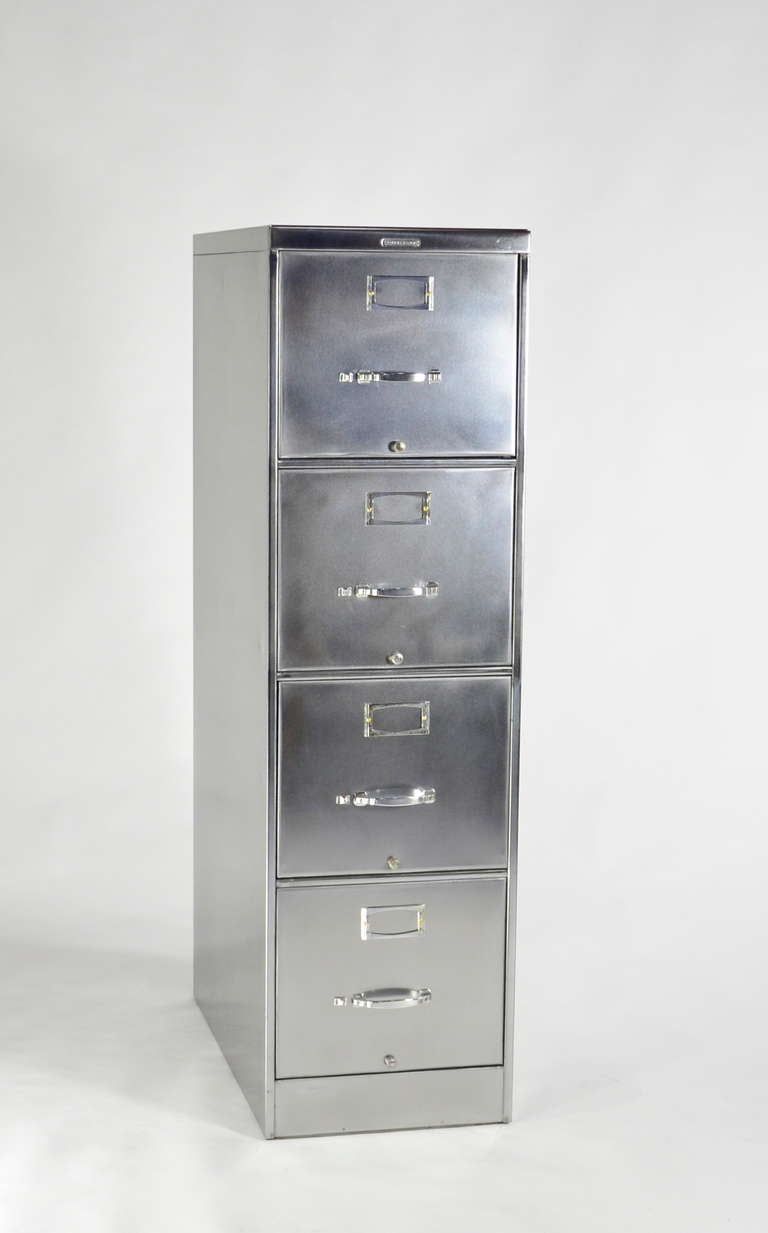 steelcase file cabinets classic four drawer steelcase file cabinet at 1stdibs 26784