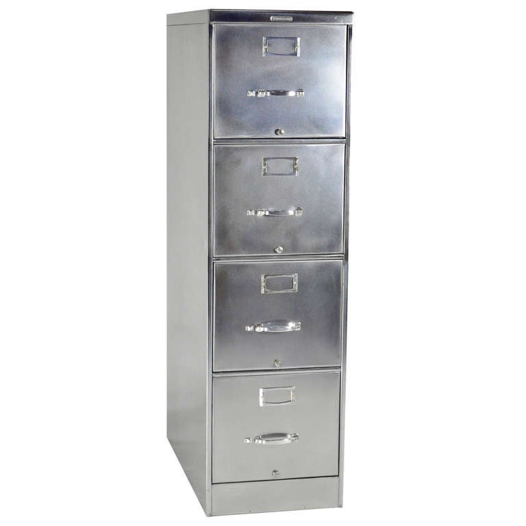 Classic Four Drawer Steelcase File Cabinet At 1stdibs