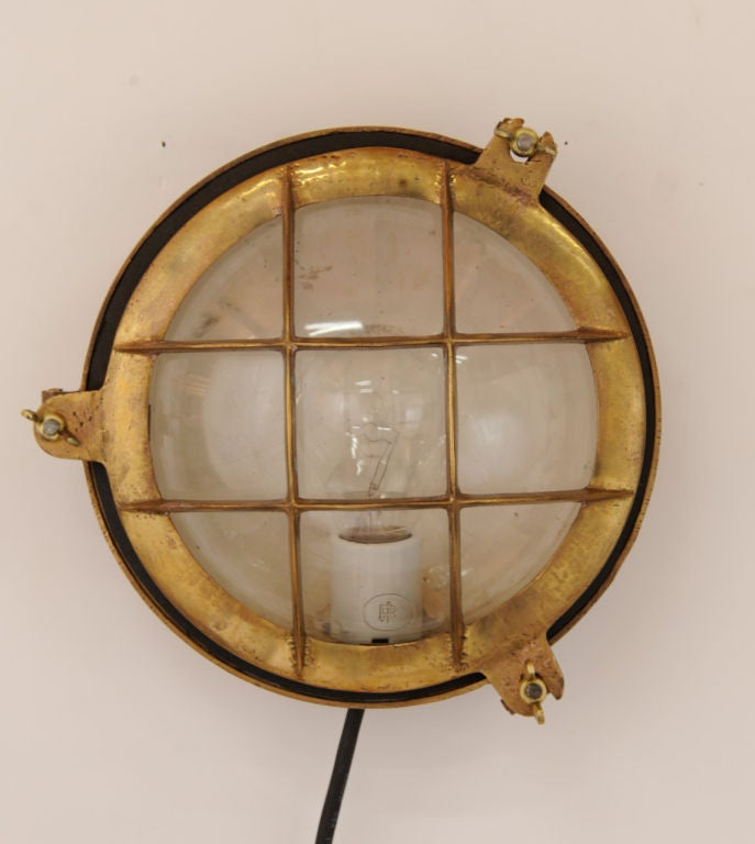 Brass Copper Wall Lights : A Pair of Handsome Brass and Copper Wall Sconces at 1stdibs