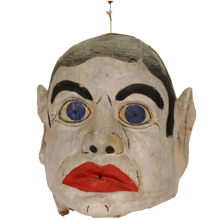 Vintage Paper Mache Carnival Head At 1stdibs