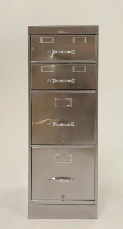 rare deco steelcase combination file cabinet at 1stdibs