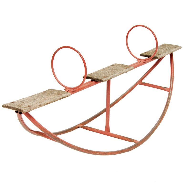 Rustic Teeter Totter At 1stdibs