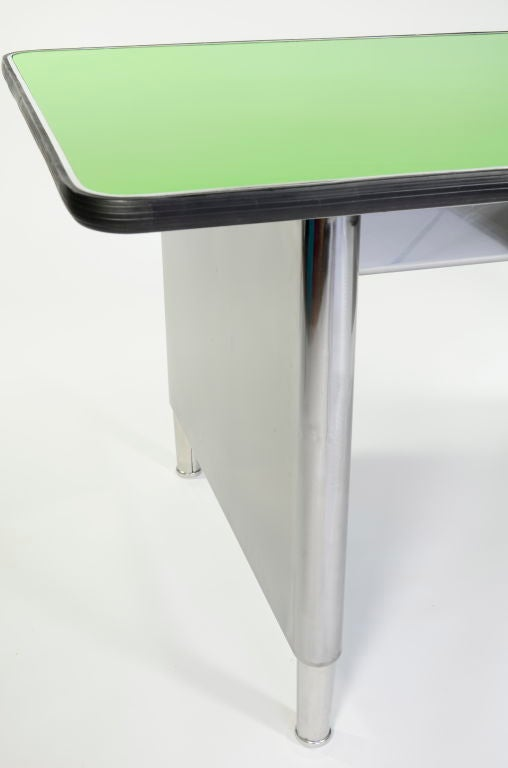 classic polished steel library table at 1stdibs