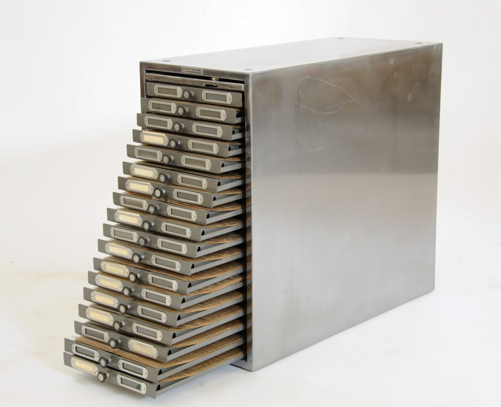 Polished Steel Photo Filing Cabinet image 4