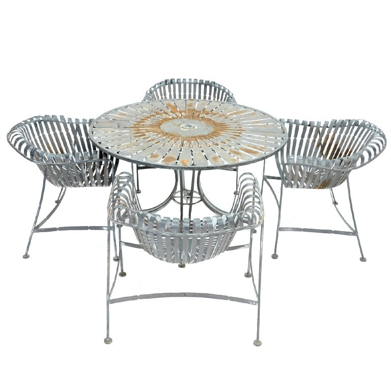 Mid Century Patio Set By Silvertone At 1stdibs