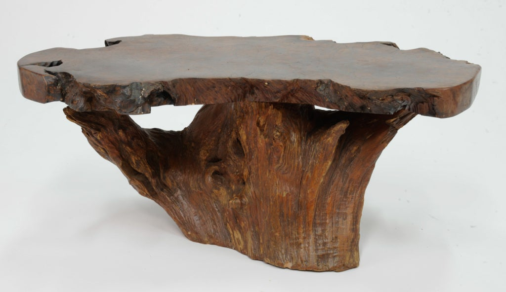 Redwood Burl Coffeee Table At 1stdibs