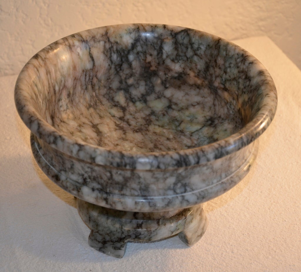 Italian Marble Inlay Bowl : Italian marble centerpiece bowl at stdibs