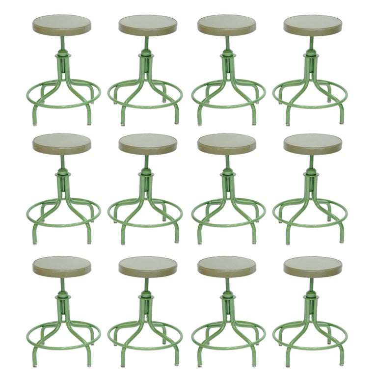 Large Collection Of Industrial Stools By Steelcase At 1stdibs