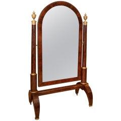 French Empire Mahogany 'Psyche' or Cheval  Mirror circa 1810