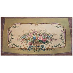 Louis XVI style  Aubusson Tapestry Cartoon For A Sofa Seat C. 1880